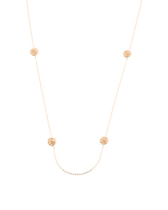 Made In Italy 14k Gold Rosetta Station Necklace