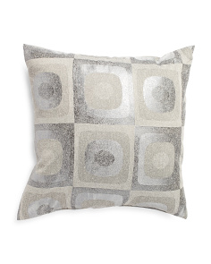 Made In Usa 22x22 Eclipse Metallic Pillow