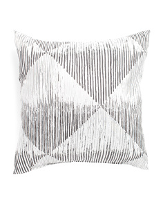 Made In Usa 22x22 Metallic Barcode Pillow