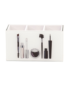 3 Section Makeup Brush Organizer