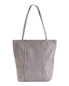 Leather Detail Front Tote