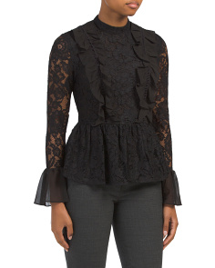 All Over Lace Ruffle Top