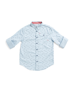 Big Boys Lightning Bolt Woven Top