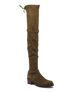 Made In Spain Over The Knee Suede Boots