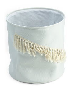 Large Natural Canvas Storage Basket