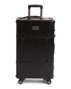 25in Suite Trunk Style Faux Leather Suitcase