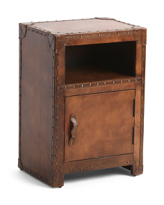 Made In India Leather Accent Table