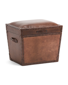 Made In India Leather Storage Trunk