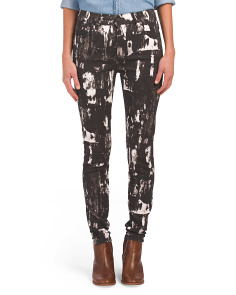 Made In Italy Printed Denim Pants