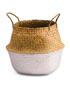 Small Dipped Round Natural Basket