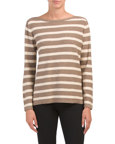 Striped Hi-lo Ottoman Sweater