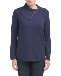 Cowl Neck Round Hem Sweater