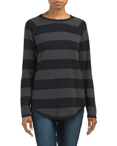 Striped Fine Gauge Pullover Sweater