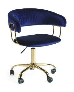 Rae Velvet Office Chair
