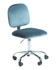 Serena Velvet Office Chair
