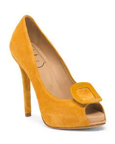 Made In Italy Suede Stiletto Pumps
