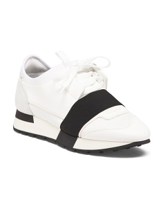 Made In Italy Leather Designer Sneakers