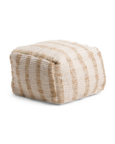 Made In India 20x20 Textured Pouf