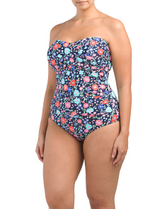 Plus Twist Front Bandeau One-piece