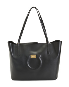 Made In Italy Leather City Tote