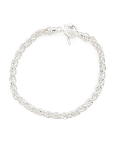 Made In Italy Sterling Silver Spiga Bracelet
