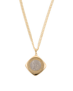 Made In Italy Sterling Silver 1000 Lire Coin Necklace