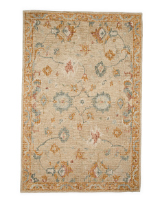 Made In India Hand Hooked Wool Area Rug