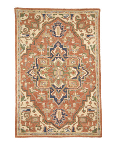 Made In India Wool 5x7 Traditional Area Rug