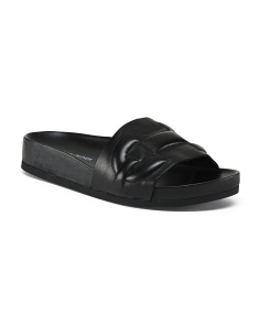 Cushioned Slide Leather Sandals