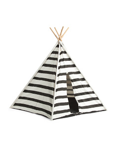 72in Cotton Canvas Striped Teepee Tent