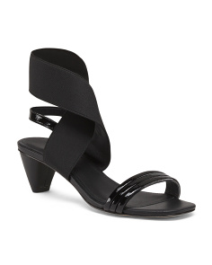 Heeled Stretch Comfort Sandals