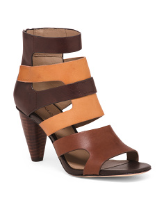 Heeled Leather Sandals