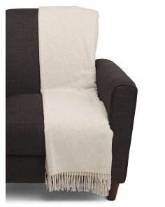 Made In Italy Cashmere Blend Throw
