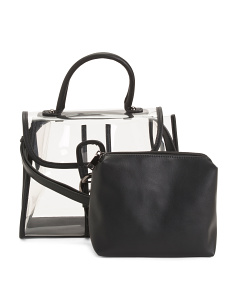 Morrison Clear Satchel With Pouch