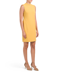 Petite Sleeveless Mock Sheath Dress