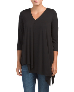 V-neck Asymmetrical Top