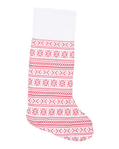 Fairisle Stocking Snuggle Tail