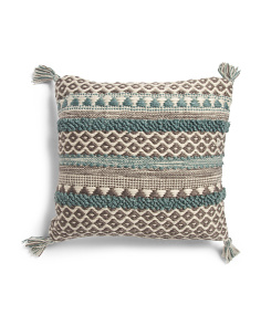 18x18 Made In India Textured Pillow