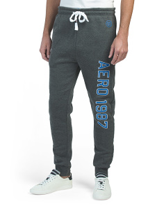 Fleece Joggers With Embroidery