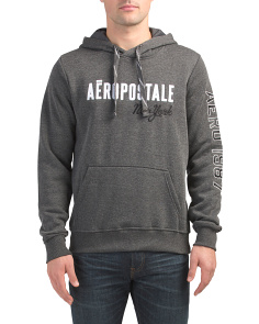 Pullover Fleece Hoodie With Applique