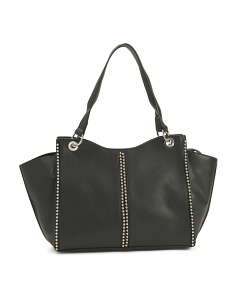 Studded Shoulder Tote