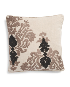 Made In India 18x18 Linen Medallion Pillow