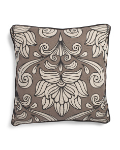 Made In India Linen 22x22 Floral Pillow