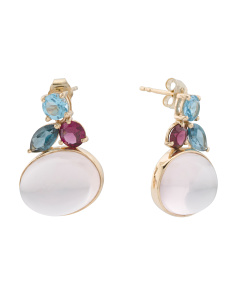 Made In India 14k Gold Gemstone Earrings