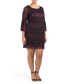 Plus Two Tone Lace Dress