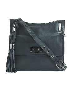 Leather Small Accordion Crossbody