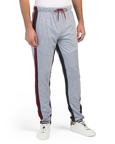 Fleece Moto Velvet Stripe Joggers