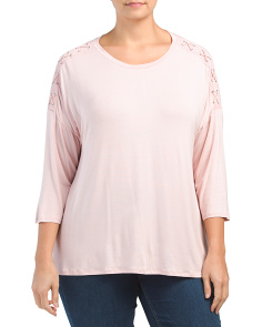 Plus Hi-lo Tunic With Shoulder Detail