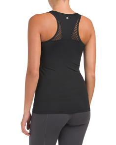Racerback Fishnet Mesh Tank Top
