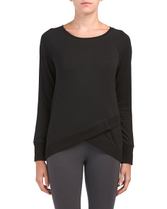 Criss Cross Front Long Sleeve Top